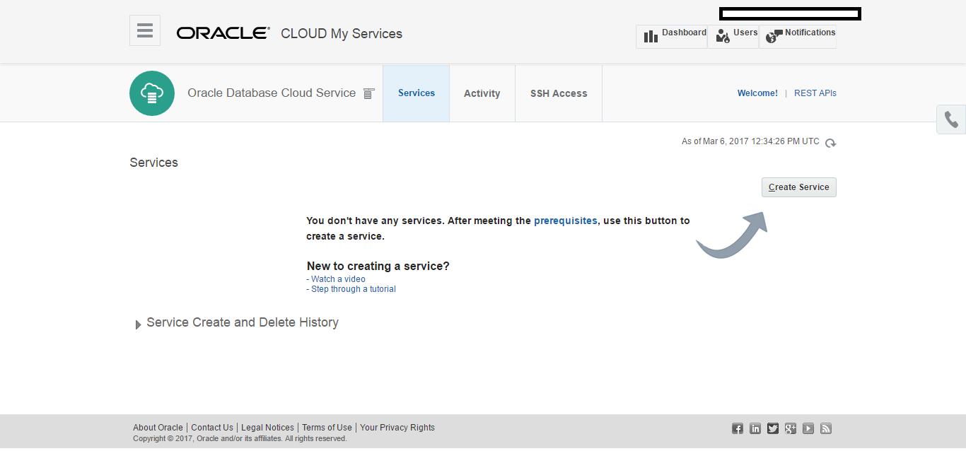 Creating Database on Oracle cloud ( DBaas ) – Technology Geek